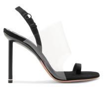 Kaia Slingback-sandalen aus Veloursleder und Pvc mit Ripsbandbesatz -