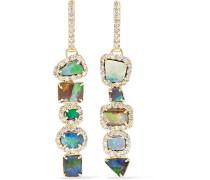 Ohrringe Aus 18 Karat  Mit Opalen Und Diamanten
