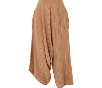 Drapierte Culottes aus Wolle mit Streifen