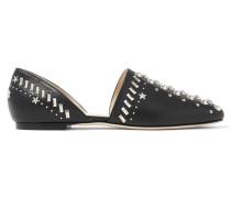 Globe Flache Schuhe Aus Leder Mit Nietenverzierung -