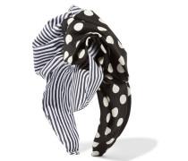 Haarband Aus Bedrucktem Baumwoll-twill - Schwarz