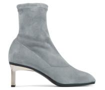 Blade Sock Boots Aus Stretch-veloursleder -
