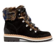 Bronte Ankle Boots Aus Veloursleder Mit Besatz Aus Shearling-imitat -