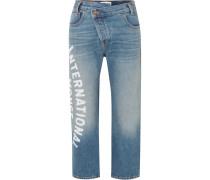 Verkürzte, Halbhohe Jeans
