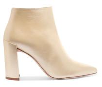 Pure Ankle Boots Aus Metallic-leder -