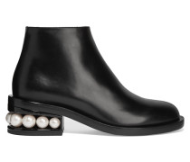Casati Verzierte Ankle Boots Aus Leder - Schwarz