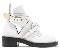 Ankle Boots Aus Leder Mit Schnallenverschluss -