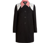 Verzierter Mantel Aus Cady - Schwarz