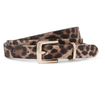 Gürtel Aus Kalbshaar Mit Leopardenprint -