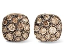 Nudo Solitaire Ohrringe Aus 18 Karat Weißgold Und  Mit Diamanten