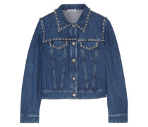 Verzierte Jeansjacke -