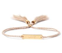 Messages Armband Aus Baumwolle Mit Goldfarbenen Details - Pink