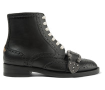 Queercore Verzierte Ankle Boots Aus Leder -