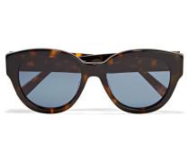 Atkins Sonnenbrille Mit Rundem Rahmen Aus Azetat - Horn