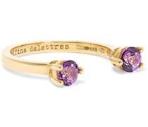 Phalanx-ring Aus 9 Karat Gold Mit Topasen