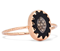 Montauk Ring Aus 9 Karat  Und Bakelit® Mit Diamanten