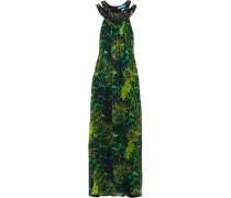 Verzierte Robe Aus Seidenchiffon -