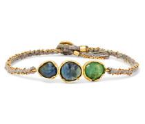 Triple Orbit Armband Aus 18 Karat  Mit Saphiren Und Smaragd