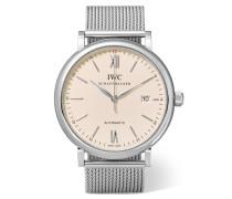 Portofino Automatic 40 Mm Uhr aus Edelstahl -