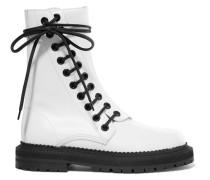 Ankle Boots Aus Leder Mit Schnürung -