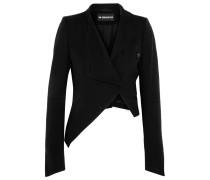 Asymmetrische Jacke Aus Einer Woll-baumwollmischung - Schwarz