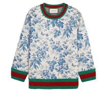 Sweatshirt Aus Bondiertem Baumwoll-jersey - Blau