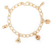 Belles Vergoldetes Armband Mit Cubic-zirkonia-steinen