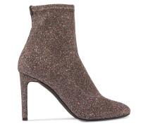 Sock Boots Aus Stretch-strick Mit Glitter-finish -