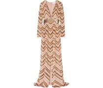 Paillettenbesetzte Robe Aus Georgette - Gold