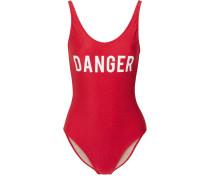 Danger Bedruckter Badeanzug -