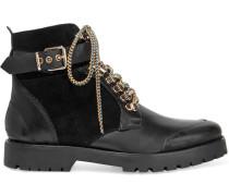 London Ankle Boots aus Leder und Veloursleder