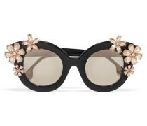 Madison Cat-eye-sonnenbrille Aus Azetat Mit Kristallverzierung -