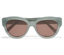 Atkins Sonnenbrille Mit Rundem Rahmen Aus Azetat - Grün