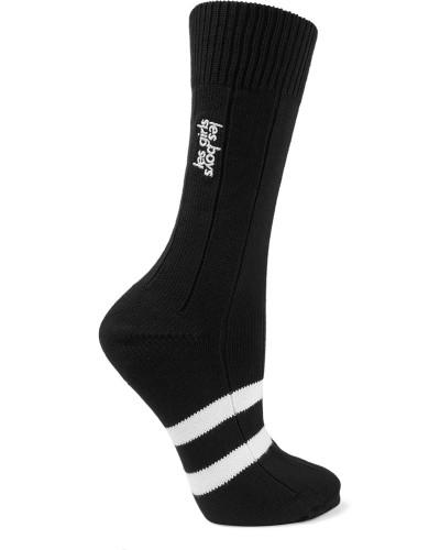 Classic Bestickte Socken aus einer Baumwollmischung