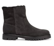 Frances Ankle Boots Aus Veloursleder Mit Shearling-futter -