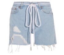 Jeansshorts In Distressed-optik -