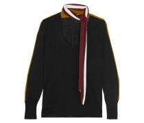 Pullover Aus Merinowolle Mit Streifen - Schwarz