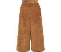 Verkürzte Hose aus einer Baumwoll-cordmischung