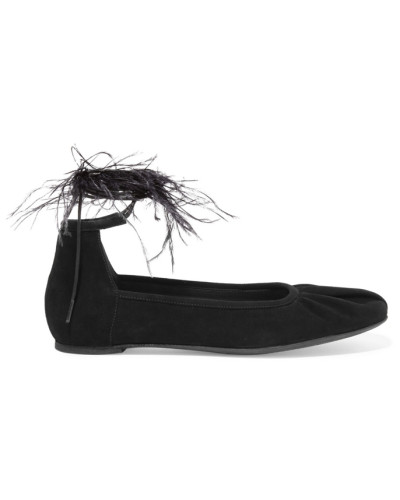Ann Demeulemeester Damen Flache Schuhe aus Veloursleder