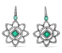 Ohrringe aus 18 karat Gold mit Smaragden und Diamanten -