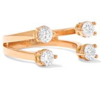 Phalanx-ring Aus 18 Karat Roségold Mit Diamanten