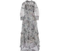 Stacey Robe Aus Tüll Mit Floralem Print Und Rüschen -