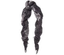 Schal Aus Einer Kaschmir-seidenmischung Mit Batikmuster - Dunkelgrau