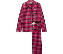 Fierce Chills Karierter Pyjama Aus Fleece -