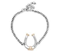 Rutheniertes Und Vergoldetes Armband Mit Swarovski-perle -