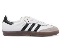 Samba Sneakers Aus Leder Mit Velourslederbesatz - Weiß
