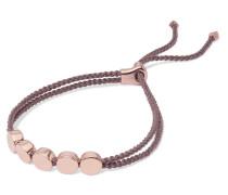 Linear Bead Geflochtenes Armband Mit Details Aus -vermeil