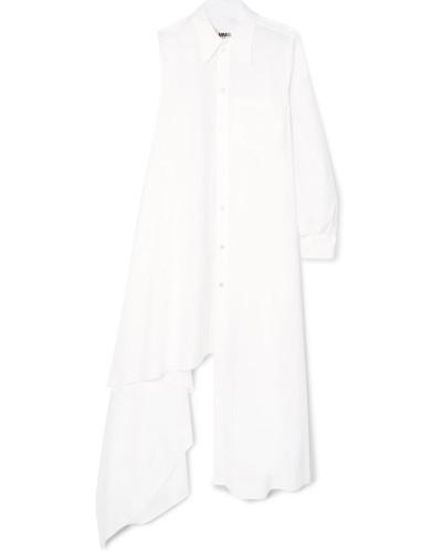 Asymmetrisches Kleid aus Baumwollpopeline