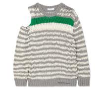 Clapish Gestreifter Pullover Aus Einer Baumwollmischung Mit Cut-out -