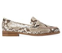 Loafers Aus Pythonleder -